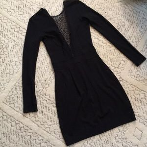 French connection little black long sleeve dress